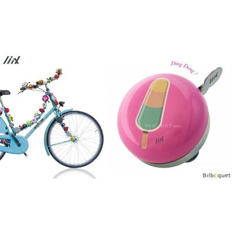 Sonnette de vélo rose bâtonnet glacé - Liix Mini Ding Dong Bell