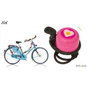Sonnette de vélo rose Coeur - Liix Scooter Bell Ø35mm