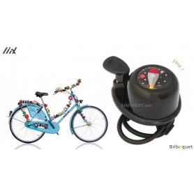Sonnette de vélo noire Fusée - Liix Scooter Bell Ø35mm