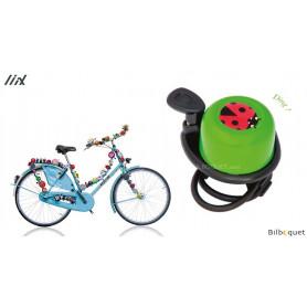 Sonnette de vélo verte Coccinelle - Liix Scooter Bell Ø35mm