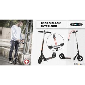 Trottinette Micro Black Interlock - Adulte