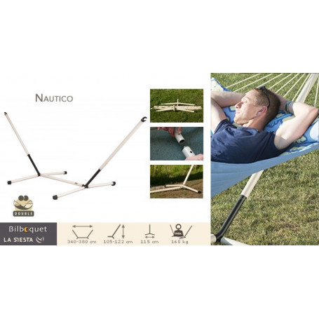 Support en acier pour hamac double Nautico