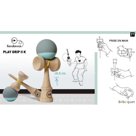 Kendama Play Grip II K - Fresh Concrete