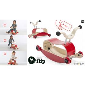 Wishbone Mini-Flip - Jouet en bois 3-en-1 - Rouge