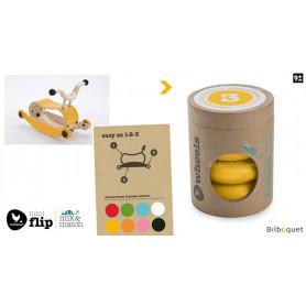Wishbone Mini-Flip - Set de 4 roues - Jaune
