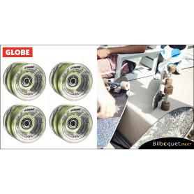 Roues lumineuses Globe Slant Lit - Clear Green - Ø59mm/78a - Set de 4