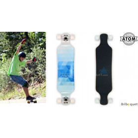 Atom Drop Deck Longboard - 39pouces - Blue Triangles