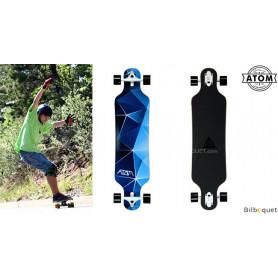 Atom Drop Through Longboard - 40pouces - Blue Geo