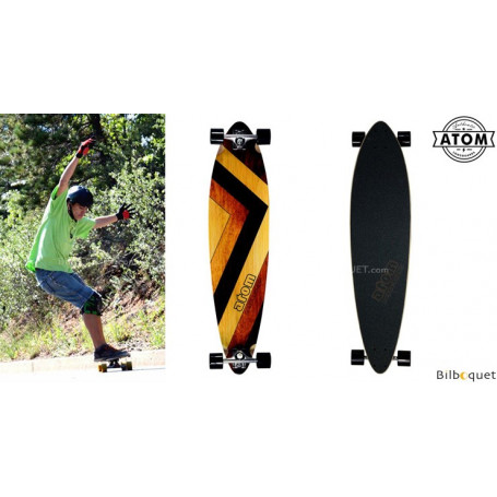 Atom Pintail Longboard - 39pouces - Woody