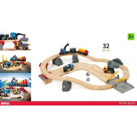 Circuit rail/route transport de roches