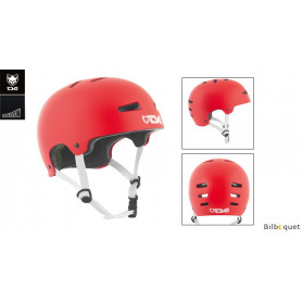 Casque TSG Evolution - Solid color - Satin Fire Red