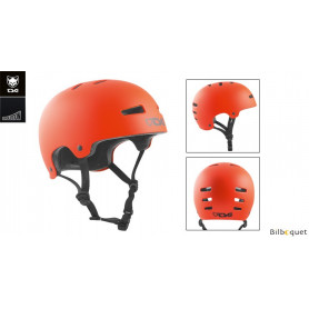 Casque TSG Evolution - Solid color - Satin Orange