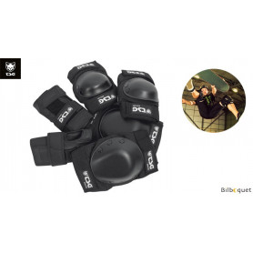 Pack de protections Skate TSG genoux-coudes-poignets - Black