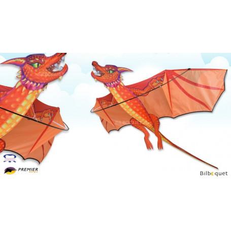 Dragon Braise 3D - Cerf-volant monofil 178x178 cm