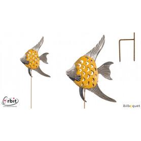Décoration design pour jardin - Poisson jaune