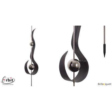 Décoration design pour jardin - Flamme anthracite