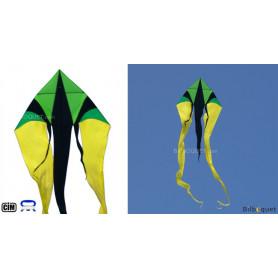 Cerf-volant monofil F-Tail XXL jaune-vert