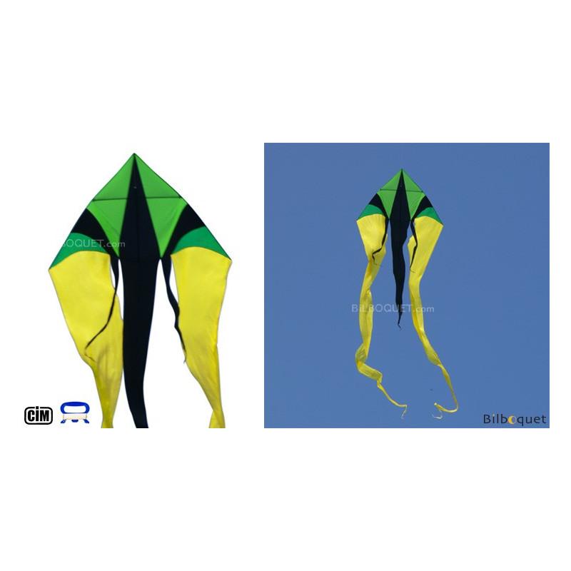 Cerf Volant Monofil F Tail Xxl Jaune Vert