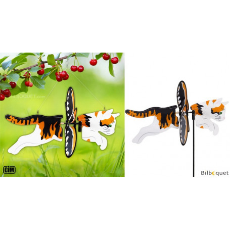 Éolienne 2 en 1 - Chat tigre
