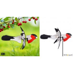 Éolienne 2 en 1 - Oiseau Rouge-gorge