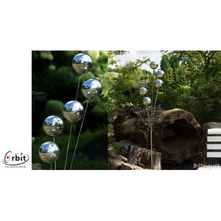 D coration design pour jardin boules miroir - Boule decorative pour jardin ...