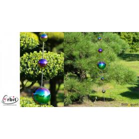 Décoration design pour jardin - Boules anodisées