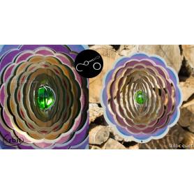 Fleur Muffin 200 - Suspension décorative en inox