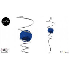 Spirale bleue - Suspension décorative en inox