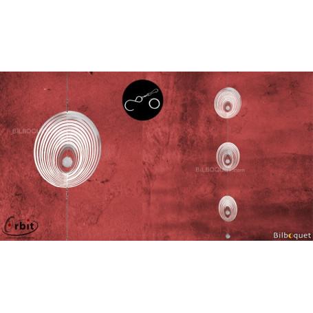 Ornement miroir - Triple cristal 140 - Suspension décorative en inox