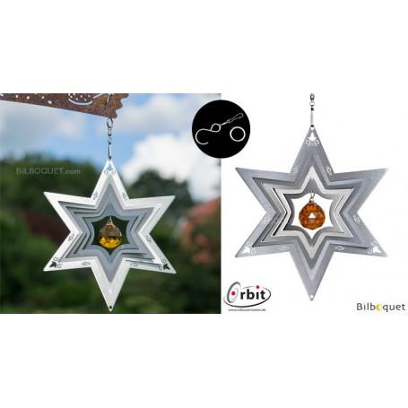 Étoile 200 - Suspension décorative en inox