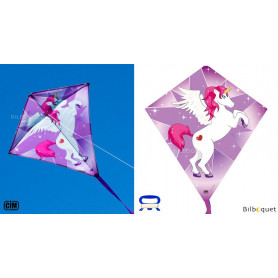 Eddy Licorne 65x72cm - Cerf-volant monofil enfant