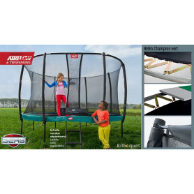Trampoline BERG Champion vert avec filet de protection Deluxe