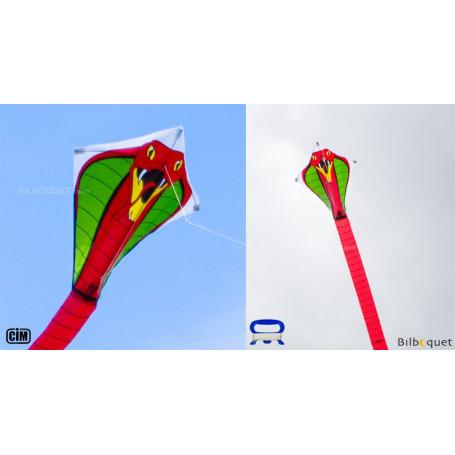 Cobra rouge 44x440cm - Cerf-volant monofil enfant