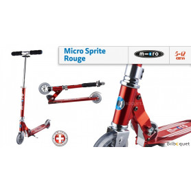 Micro Sprite Rouge - Trottinette 5-12 ans