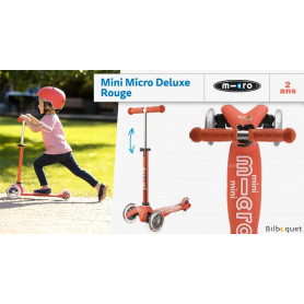Mini Micro Deluxe Rouge - Trottinette 2-5 ans