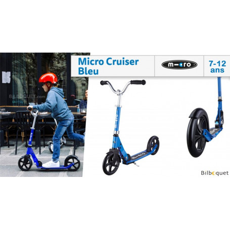 Micro Cruiser bleu - Trottinette 7-12 ans