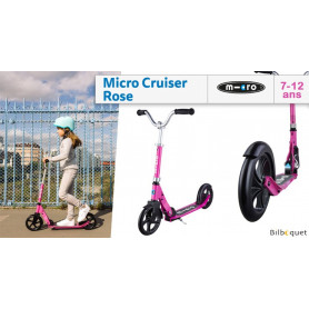 Micro Cruiser rose - Trottinette 7-12 ans