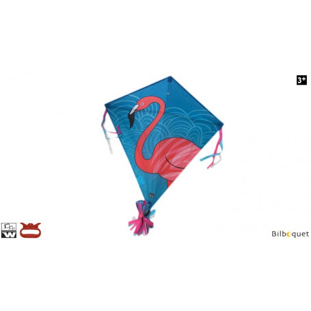 Monofil Eddy Flamingo 75cm - Cerf-volant enfant