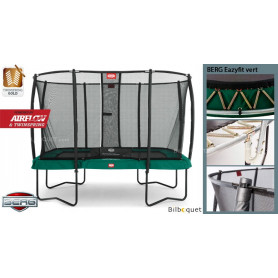 Trampoline BERG EazyFit Regular vert avec filet de protection Deluxe