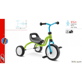Tricycle Puky Fitsch® - bleu/vert - dès 18 mois