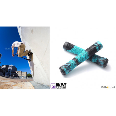 Poignées V2 bleu/noir - Accessoire Trottinette - Blunt