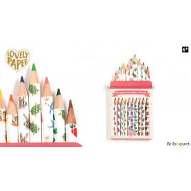 10 mini crayons de couleurs Aiko - Papeterie Djeco