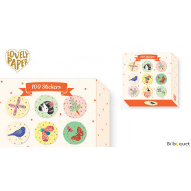 100 Stickers Chichi - Papeterie Djeco