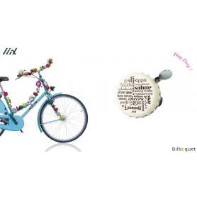 Sonnette de vélo Les mots - Liix Funny Bell