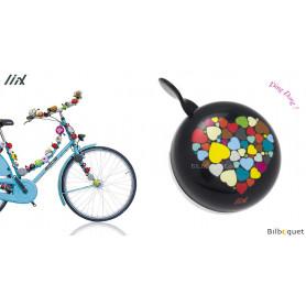 Sonnette de vélo Coeurs - Liix Ding Dong Bell Ø80mm