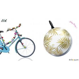 Sonnette de vélo Feuilles de palmier - Liix Ding Dong Bell Ø80mm