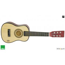 Guitare en bois naturel - Instrument jouet en bois