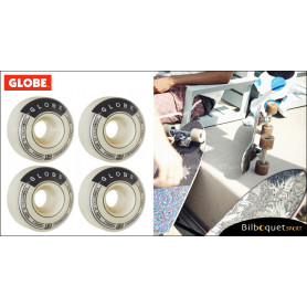 Roues Banger - White - Ø52mm/101a - Set de 4 roues pour longboard Globe