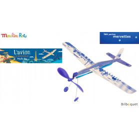L'avion à élastique bleu - Les petites merveilles