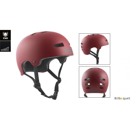 Casque TSG Evolution - Solid color - Satin Oxblood